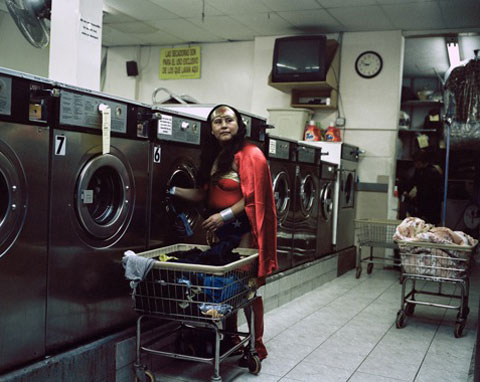 MARIA LUISA ROMERO from the State of Puebla works in a Laundromat in Brooklyn New York She sends 150 dollars a week