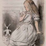 Alice with the White Rabbit for Alice_s Adventures in Wonderland, John Tenniel, 1864
