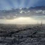 Coruscant Skyline, Erik Tiemens, 2004 - Digital Cyclorama Concept Art