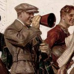 Football Players & Fans, Joseph Christian Leyendecker, 1920