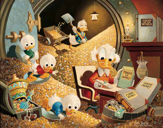 Money Bin Memories, Carl Barks, 1972