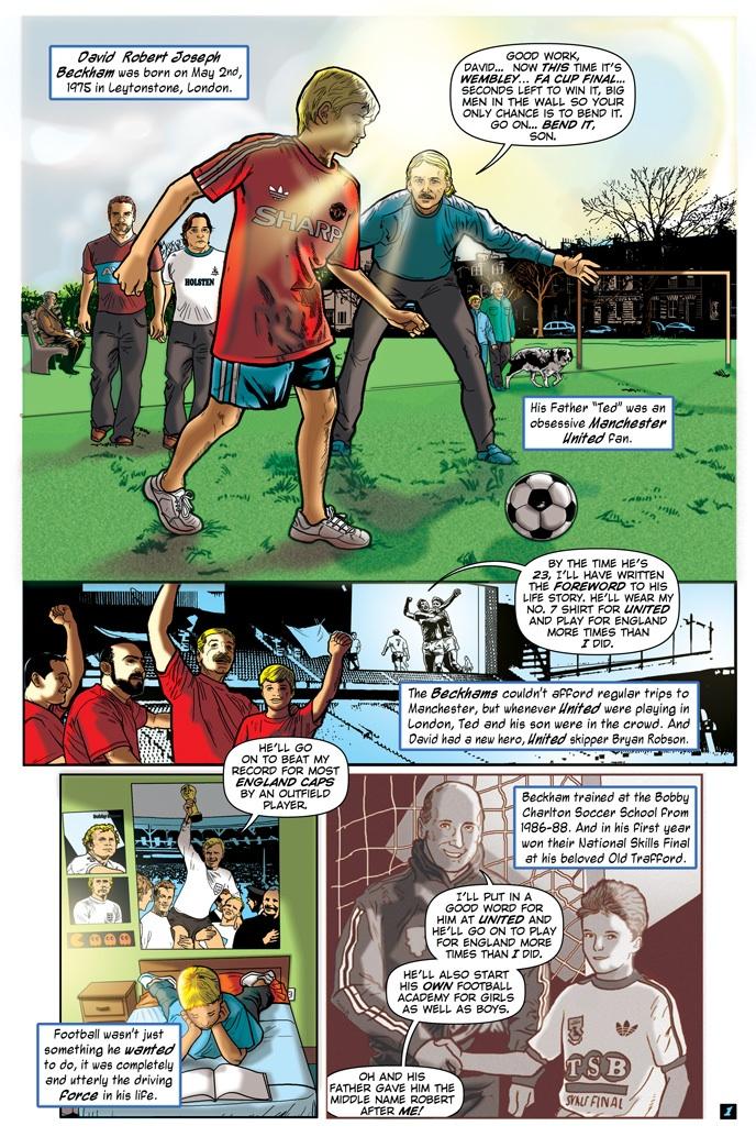Writer Pete Rogers and artist Pablo Martinena - David Bekham BlueWater Comics